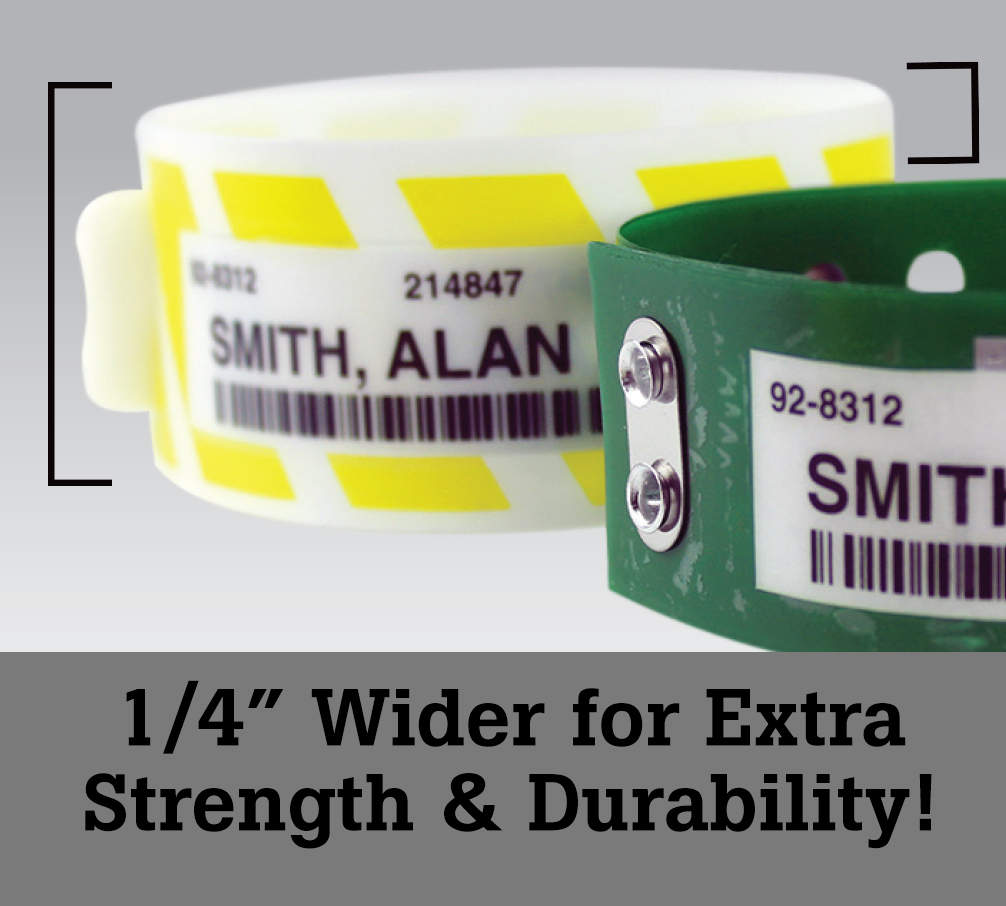 Clincher® Extra Wide Wristbands