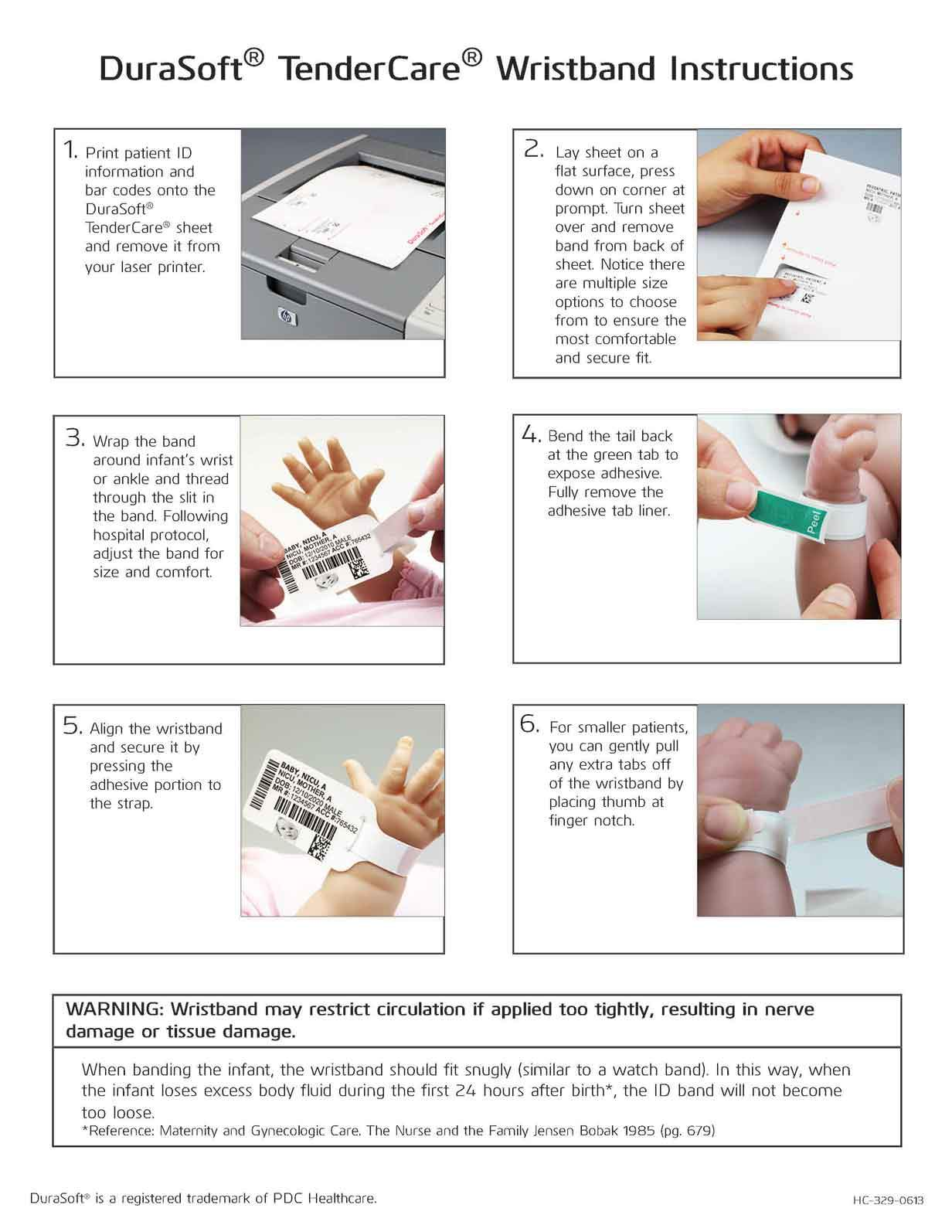 Durasoft® Tendercare® Instruction Sheet