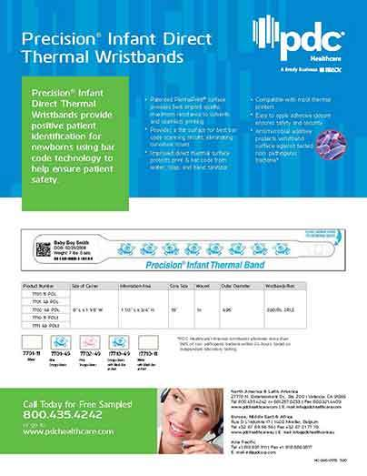 Precision® Infant Direct Thermal Wristbands