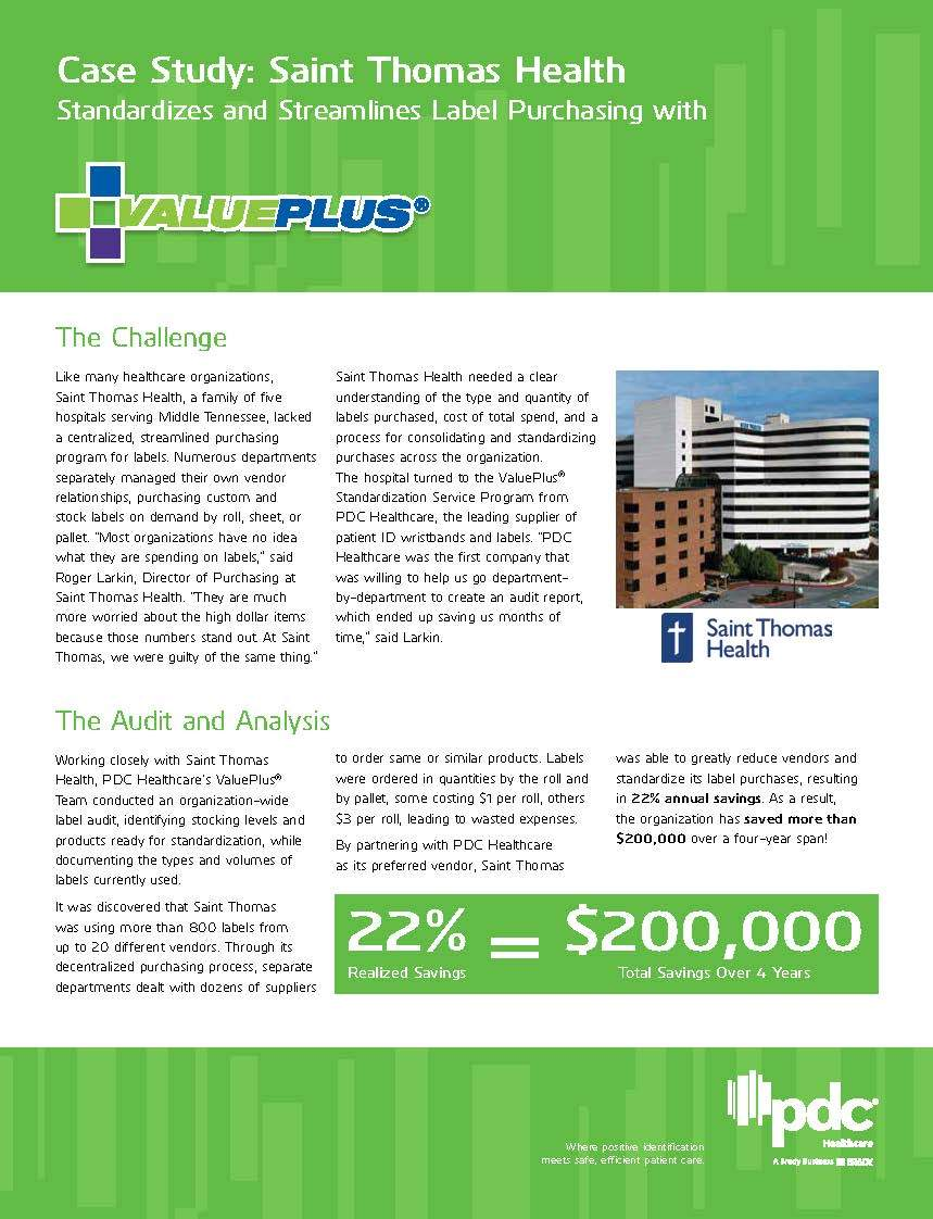 ValuePlus® Case Study: Saint Thomas Health