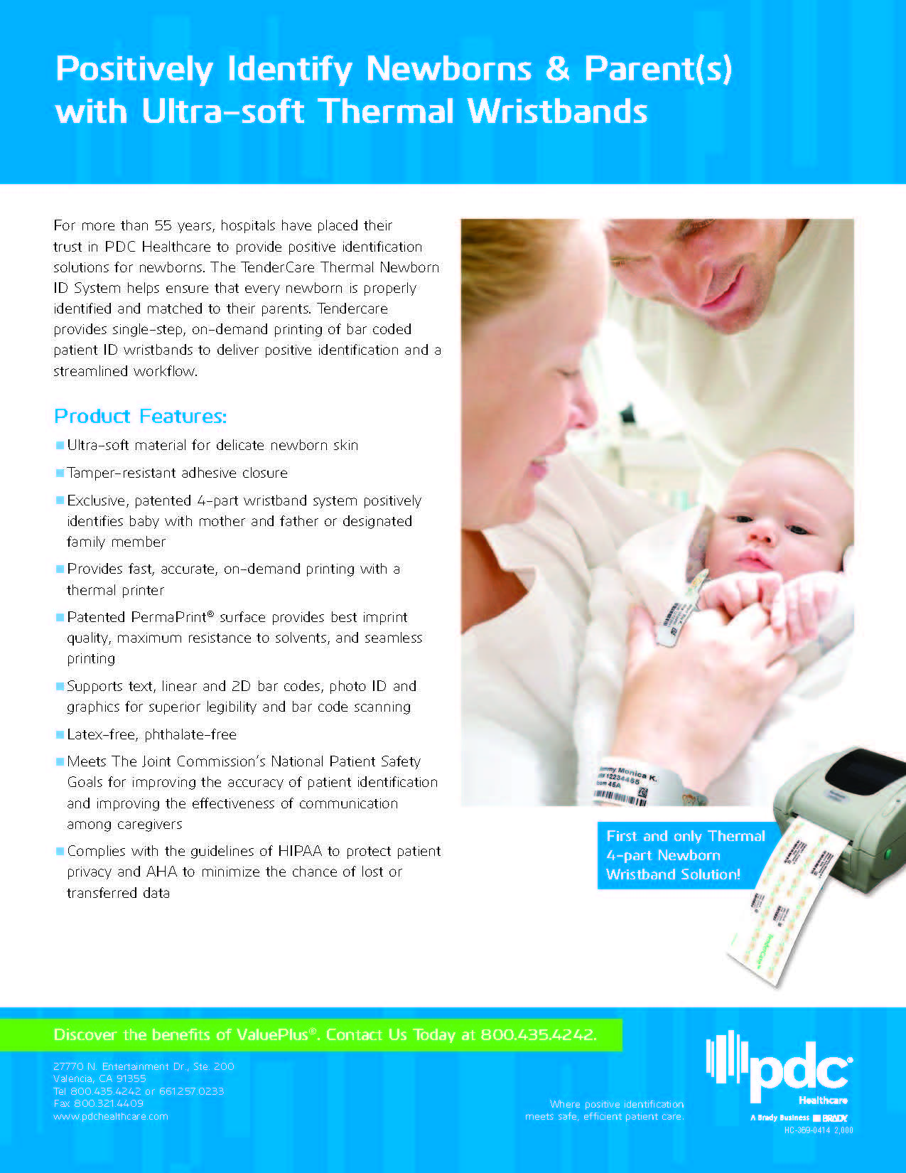 TenderCare Thermal Newborn ID System