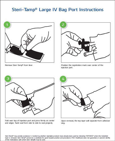 Steri-Tamp® Large IV Bag Port Instructions