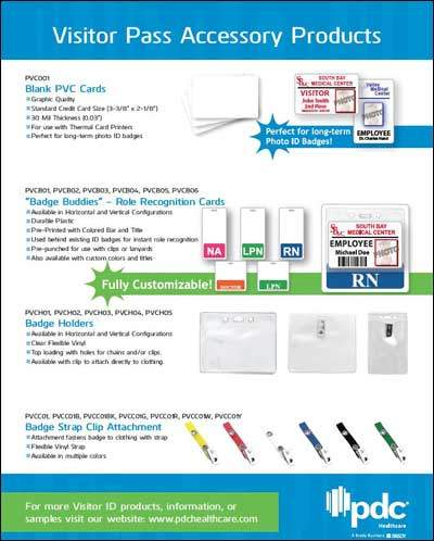 Visitor Pass Accessory Products Flyer
