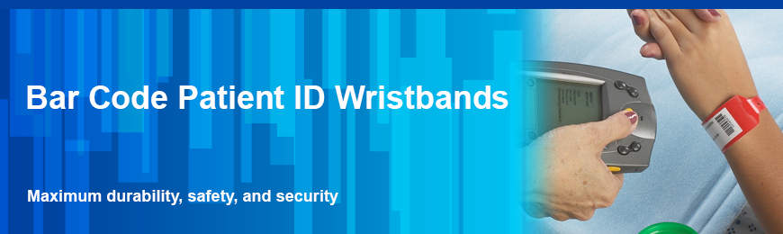 Bar Code Patient ID Wristbands