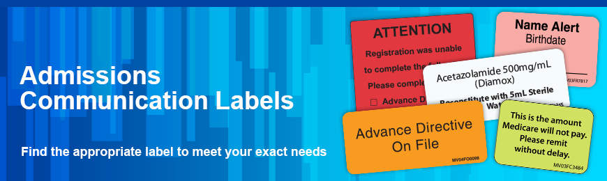 Admissions Labels