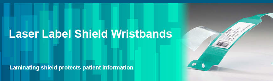 Laser Label Shield Wristbands