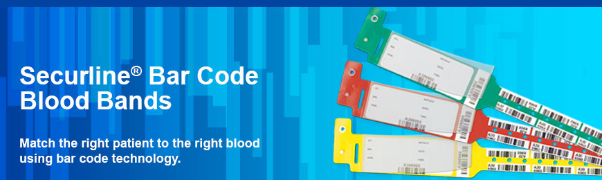 Securline® Bar Code Blood Bands