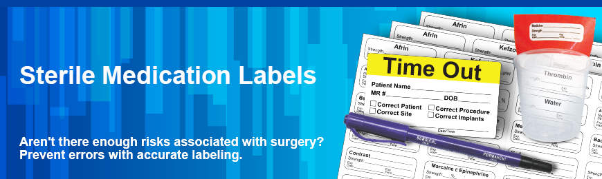 Sterile Medication Labels