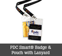 PDC Smart® Badge & Pouch with Lanyard