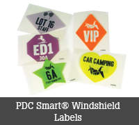 PDC Smart® Windshield Labels