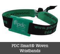 PDC Smart® Woven Wristbands