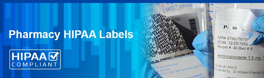 Pharmacy HIPPA Labels