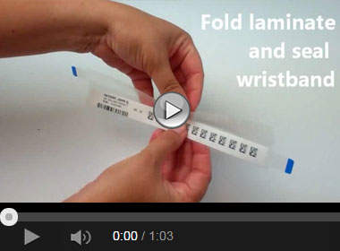 How to Apply a Laminated Laser Printable Patient ID Wristband