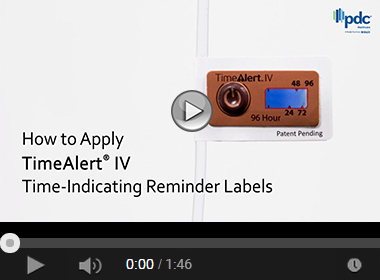 How to Apply TimeAlert® IV Time-Indicating Reminder Labels