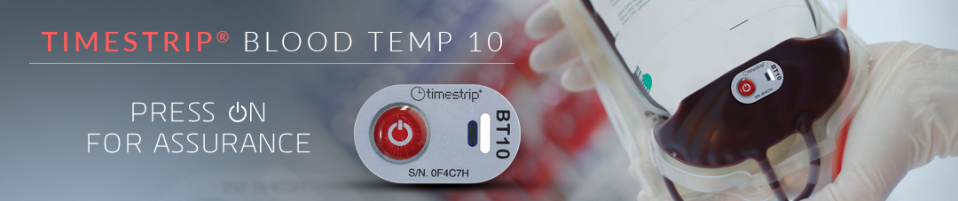 Blood Temp 10 Button Activated Blood Temperature Indicator