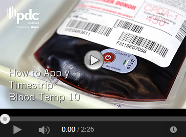How to Apply Timestrip® Blood Temp 10 Blood Temperature Indicator