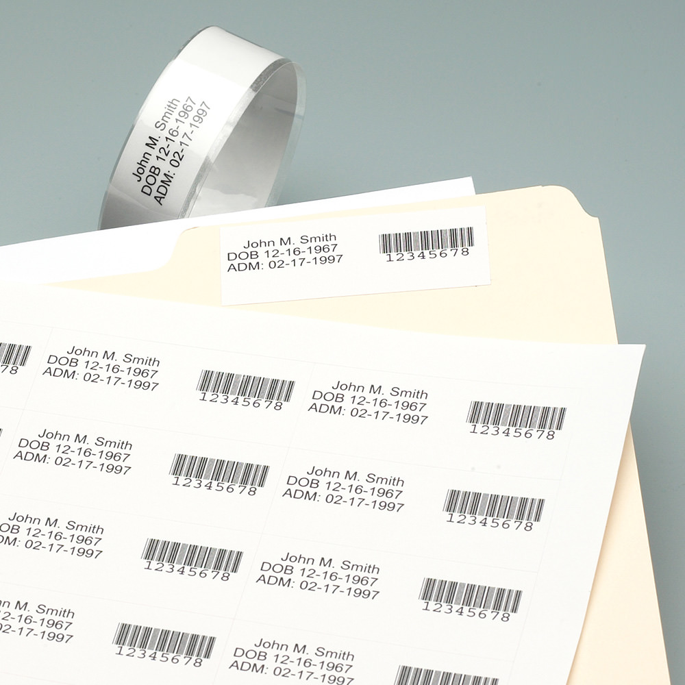 photograph relating to Printable Wristband Sheets named Laser Printable Wristband Sheets Affected individual Identity Companies