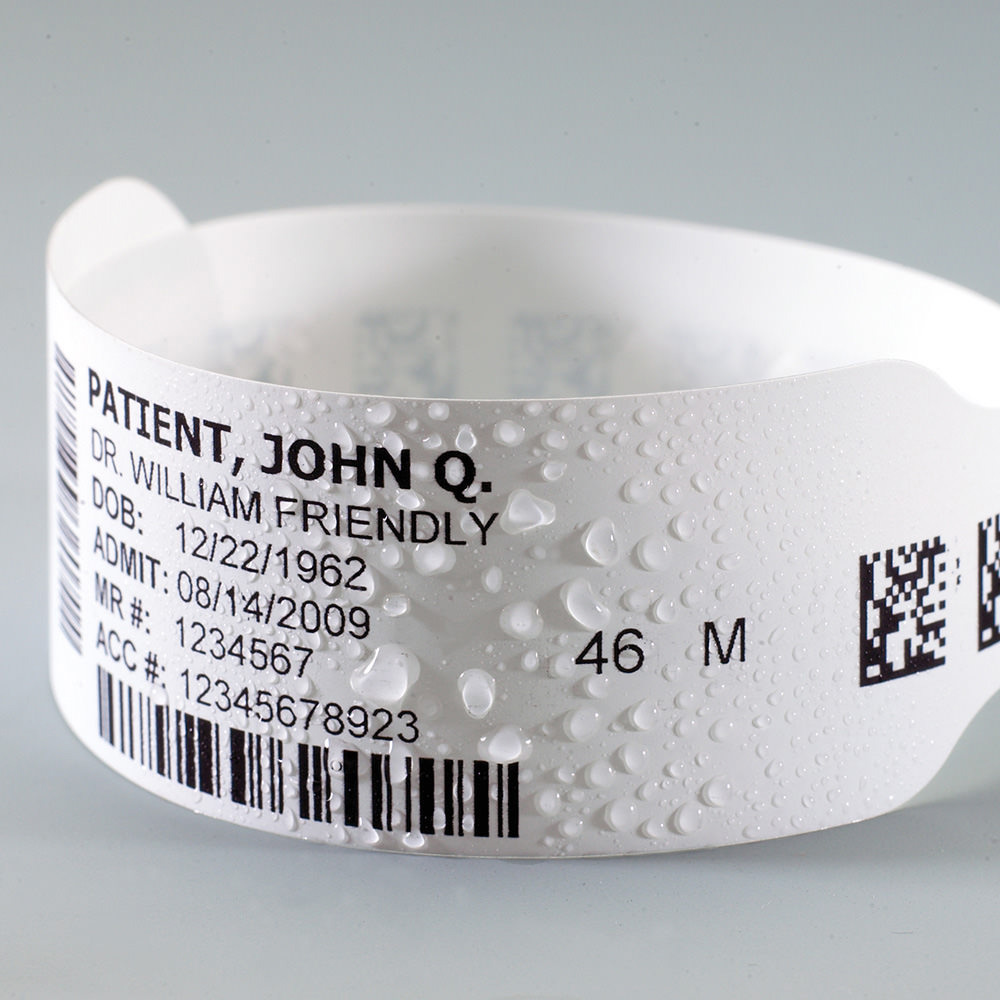 image relating to Hospital Bracelet Printable named Laser Printable Wristband Sheets Client Identity Companies
