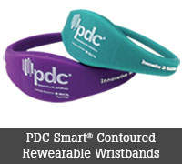 PDC Smart® Contoured Rewearable Wristbands