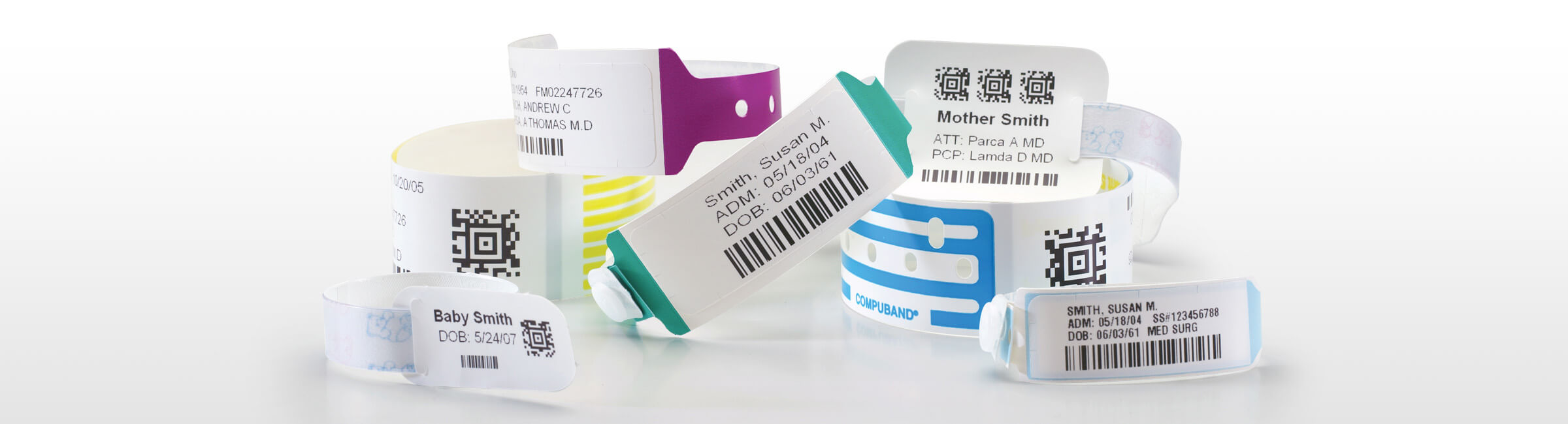 picture regarding Hospital Bracelet Printable called Clinic Bracelets Client Wristbands for Hospitals PDC