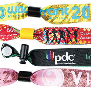 PDC Woven Wristband Custom Specifications