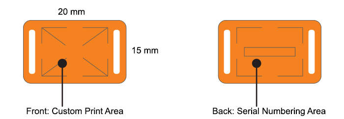 PDC RFID Slider Custom Imprint Specifications