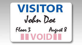 PDC Custom Labels - Security/Visitor Management