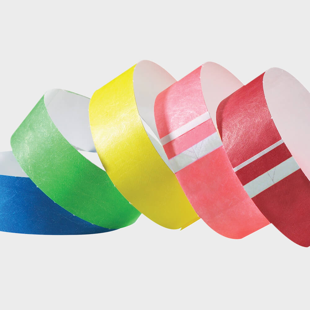 "Short Stay® Tyvek® 1"" <br/> Wristbands - 14 colors"