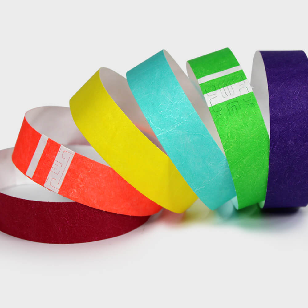 "Short Stay® Tyvek® 3/4"" <br/> Wristbands - 13 colors"